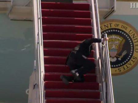 Video Shows Joe Biden Fall Down Thrice On Airforce One Stairs, Raising Concerns About His Health