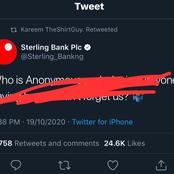 Hours After Anonymous Allegedly Threatened To Hack All Nigerians Banks, See Sterling Bank's Reply