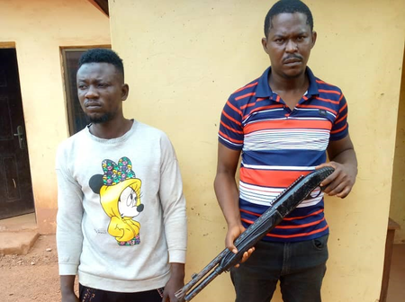 How two cultists were arrested with pump-action gun during police raid on their hideout