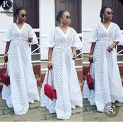 Trending And Glamorous Aso Ebi White Lace Styles For Boss Ladies.
