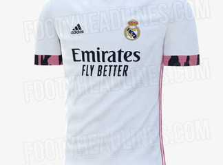 Real Madrid 2020/21 home kit leaked featuring pink trimmings