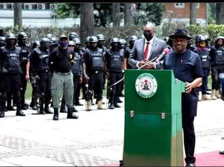 Gov Wike Launches New Security Outfit (C41) To Tackle ESN In Rivers State.