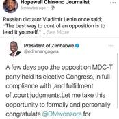 Hopewell Chin'ono is Always Misleading the Citizens of Zimbabwe - OPINION