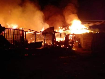 One of Calabar Largest Market catches Fire; Goods destroyed.