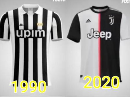 The Evolution Of Juventus' Kits From 1990 To 2020