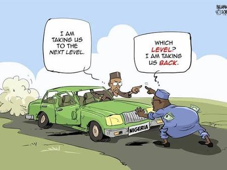 Control your laughter, as you checkout these funny cartoons about Nigeria's politics.