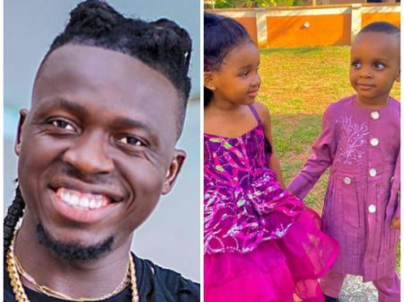 Akpororo Shows Off His Lovely Twin Kids, Faith and Favor, Says