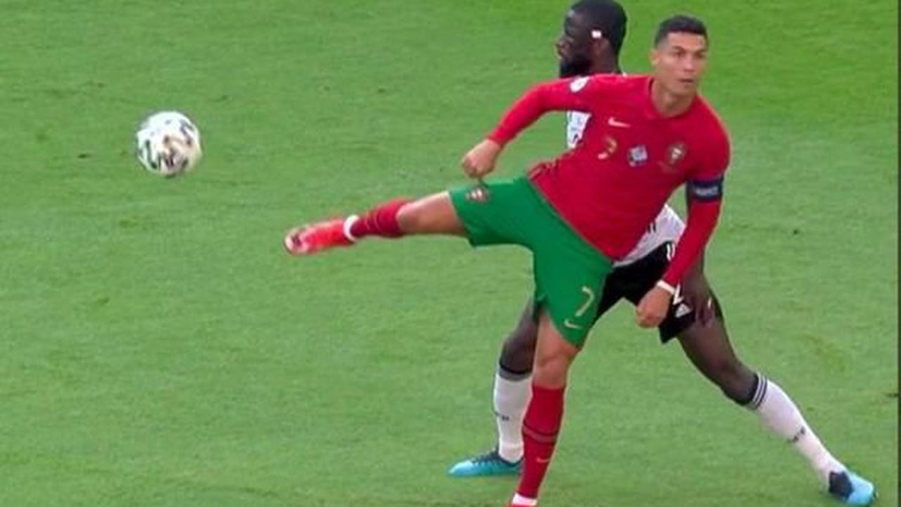 Cristiano Ronaldo sends fans wild after 'ending Antonio Rudiger's career' at Euro 2020