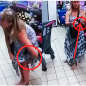 See What This Lady Was Seen Doing Inside A SuperMarket That Made Many To React On Social Media