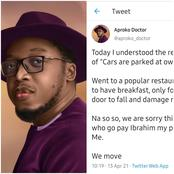 A Popular Restaurant At Ikeja Front Door Fell And Damaged My Car, But This Is What They Told Me- Man
