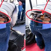 Check Out What Was Discovered On The Waist Of A Yoruba Man At The Airport That Causes A Stir Online