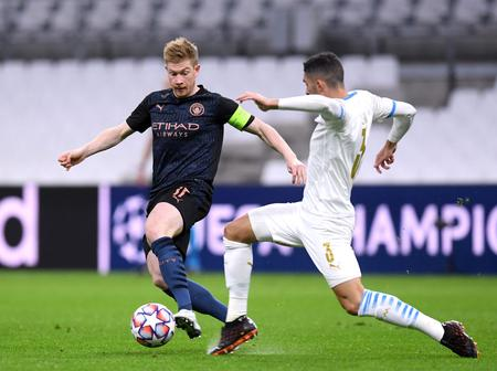 Kevin De Bruyne breaks an impeccable record for Man City in their UEFA Champions League victory