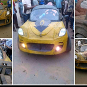 Reactions as Nigerian Man builds a 'Super Car', drives it on the Street for people to see.