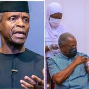 Osinbajo Break Silence After Recieving Covid-19 Vaccine, Says He Didn't Feel Pain During Vaccination