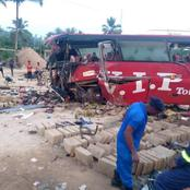 Sorrowfull; 16 people dead in an accident at Akyem Asafo Junction