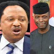 Today is VP Osibanjo's birthday, see what Senator Shehu Sani told him that sparked reactions online