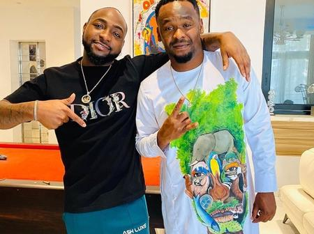 Zubby Michael Shares Photo Of Himself And Davido, See What He Said About Him