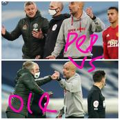 What caused the heated argument between Guardiola and Ole, and what pep said after the game.