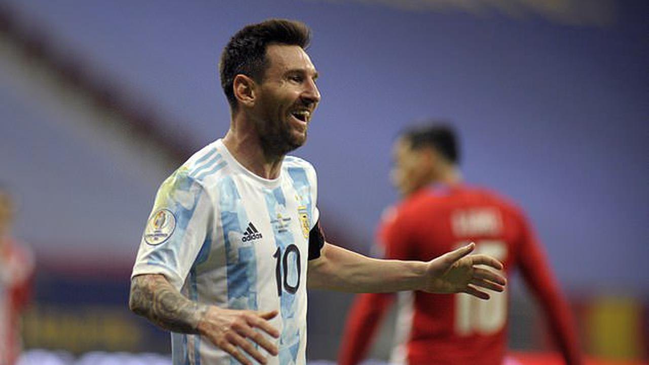 Lionel Messi equals Javier Mascherano's record of 147 matches for Argentina as Barcelona star helps side reach the quarter-finals of the Copa America with win over Paraguay