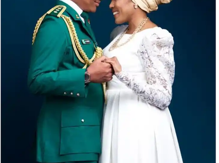 Meet Former Borno State Governor's Daughter, And Her Husband Who Is ADC To Chief Of Army Staff