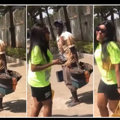 See the Lady who was dancing while a shoe maker was beating his box that got reactions on Twitter