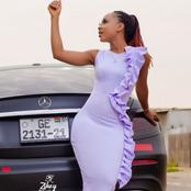 Ghanaian actress, Akuapem Poloo reacts after she reads about herself on Opera News.