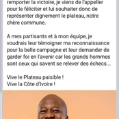 Plateau : Ehouo remporte le scrutin, Ouattara Dramane sort grand gagnant par son geste !