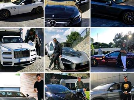 Cars collection of the footballer Cristiano Ronaldo