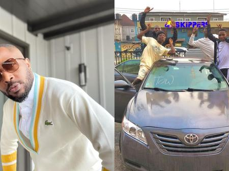 Davido and others react as Tunde Ednut delivers South-South based content creators a brand new car