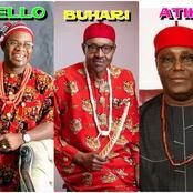 One Nigeria: Photos of Buhari, Yahaya Bello and Atiku Rocking Igbo Native Attire