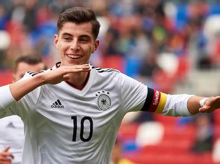 Goal For Germany As Chelsea's Star Kai Havertz Scores for Germany (WATCH GOAL)
