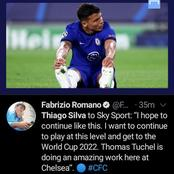 CHE VS PORTO: Read What Thiago Silva Said After Chelsea Qualified For The Semi-finals Of The UCL