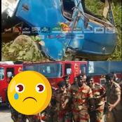 (Video) Another Gory Accident Reportedly Claims The life Of A Fire Officer And Three Others At Assin