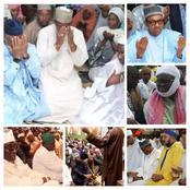 See Photos Of Seyi Makinde, El-Rufai, Amode, Bola Tinubu, President Buhari And Others In Mosque