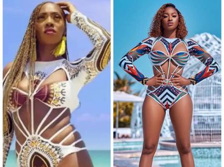 Between Kim Oprah and Tiwa Savage, who rocked the swim suit better?