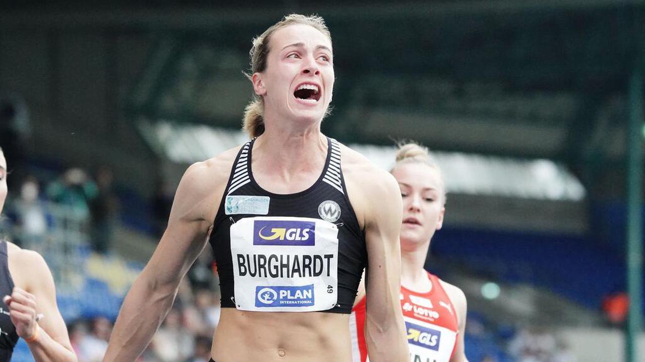 Sprinterin Burghardt jubelt über Titel und Olympia-Norm