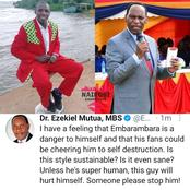 Kenyans Reacts After Dr Ezekiel Mutua Criticized Embarambamba's Style of Dancing