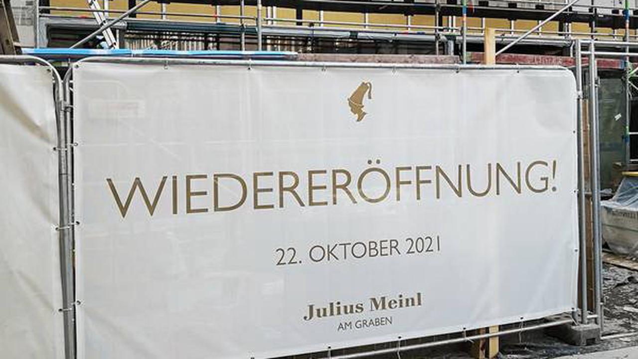 """Wien: Wiedereröffnung des """"Meinl am Graben"""" am 22. Oktober 2021 - """"Alles bleibt besser!"""""""