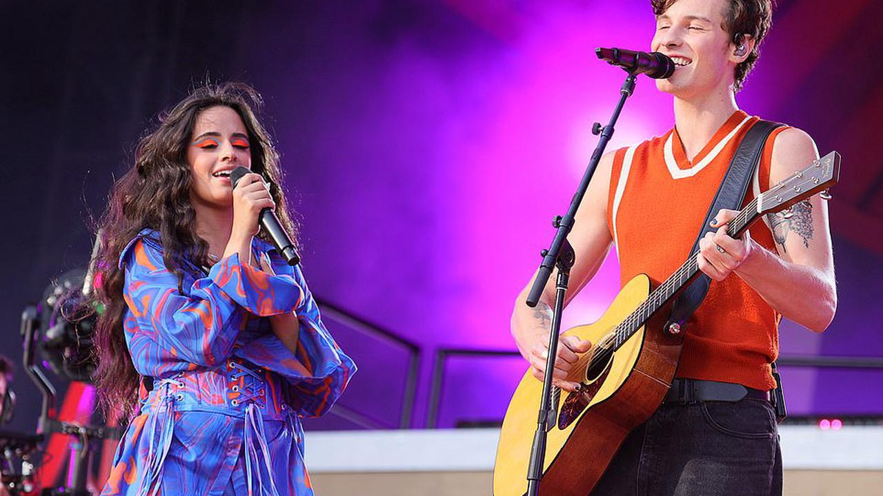 Camila Cabello and Shawn Mendes performed their hit duet Señorita at the Global Citizen Live festival