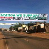 Banners In Support Of BBI Placed In Gatanga As Ruto Visits.