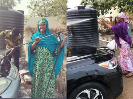 Look At Photos Of Asma'u Pate, The Only Woman Known To Be Involved In A Car Wash Business In Kano