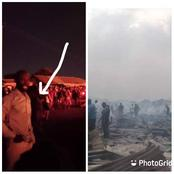 Coffins, fashion accessories and other goods worth millions of naira destroyed in fire outbreak