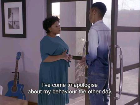 Leeto went to see Mokgadi and apologized about his behavior