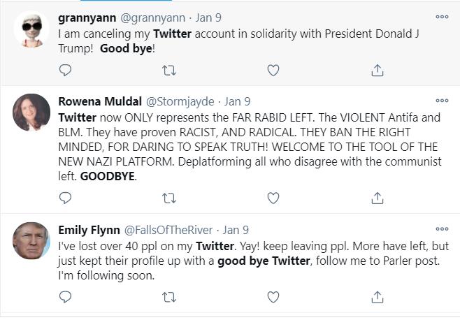 Les fans inconditionnels de Trump abandonnent en masse Twitter après sa suspension de la plateforme