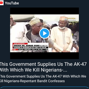This Government Gives Us The AK-47 Which We Use To Kill- Repentant Bandit