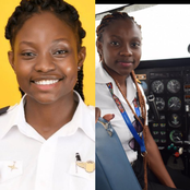 Meet Audrey Maame Esi Swatson, Ghana's Youngest Female Commercial Pilot who started piloting @19yrs