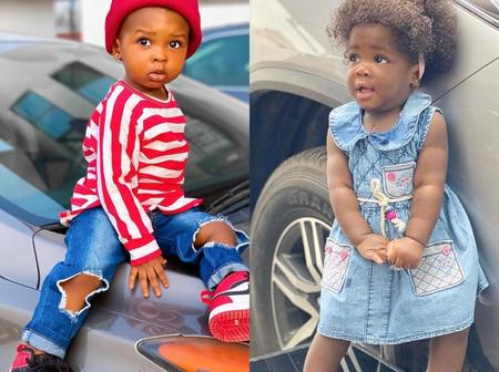 Tracey Boakye's daughter and Strongman's daughter, who is more adorable?(Photos)