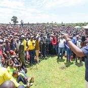 King of Pulling Crowds? Ruto Storms Raila's Turf, Received Warmly by Hundreds of Residents (Photos)