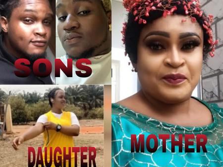Meet Nollywood Actress Joyce Kalu, Her Two Sons And Only Daughter (Photos)
