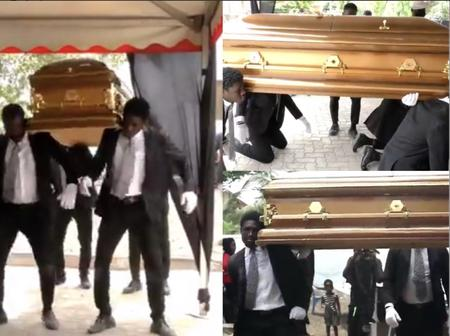 The Last Moment The Dancing Pallbearers Danced With Eddie Nartey's Wife Coffin Before Her Burial